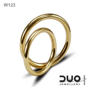 Брачни халки W123 - Венчални халки от жълто злато